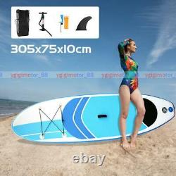 10FT Inflatable Paddle Board SUP Beginner Stand Up Paddleboard Accessories HOT#G