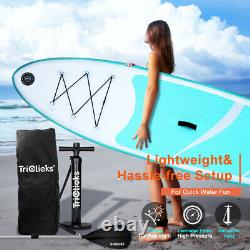 10FT Inflatable SUP Surfboard Paddle stand up Board 300x76x15CM inc Warranty