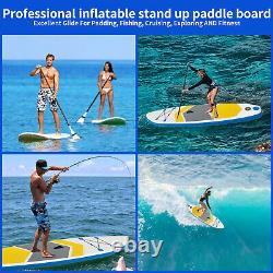 10FT Inflatable Stand Up Paddle Board SUP Surfboard Non-Slip Deck with Pump Bag UK