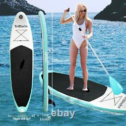 10FT SUP Inflatable Surfing Board Soft Surf Stand Up Paddle Board with Pump