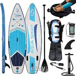 10FT iSUP Inflatable Stand up Paddle Board Accessories Tempo Blue