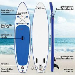 10.5FT Inflatable Stand Up Paddle Board SUP Surfboard Adjustable Non-Slip Deck