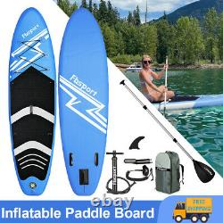 10.6' Inflatable Stand Up Paddle Board Surfing Surfboard Blue SUP Board