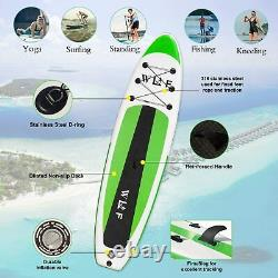 10'6 SUP Paddle Board Inflatable Stand Up Paddleboard Surfboard Surfing Fishing