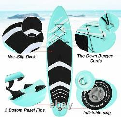 10.6'Stand Up Paddle Board SUP Board Inflatable Surfing Surfboard Paddleboard UK