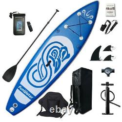 10' Inflatable Stand Up Paddle Board SUP Surfboard with complete kit 6''thick