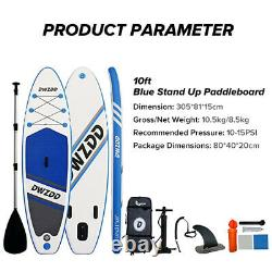 10' SUP Board Set Stand Up Paddle Inflatable Surfboard Paddling 305 cm Surfbrett