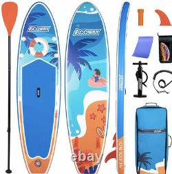10ft Paddle Board Stand Up SUP Inflatable Paddleboard Pump Kayak Adult Beginner
