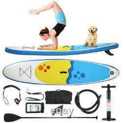 10ft Premium SUP Stand Up Paddleboard INFLATABLE PADDLE BOARD + ACCESSORIES UK