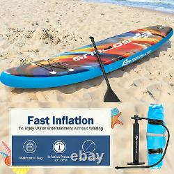 11FT Inflatable Stand Up Paddle Board SUP Surfboard Adjustable Non-Slip Deck