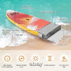 11FT Inflatable Stand Up Paddle Board SUP Surfboard Adjustable Non-Slip ISUP