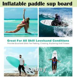 3 Fins Inflatable SUP Paddle Board 10ft Stand Up Paddleboard Kayak 6 Thick UK