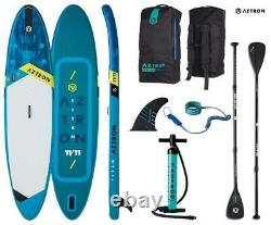 AZTRON TITAN 11.11 inflatable SUP Stand up Paddle Board mit Style Alu Paddel und