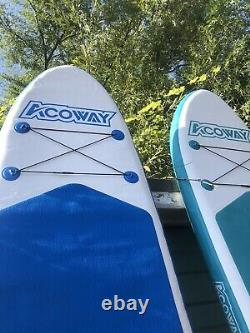 Acoway Second Hand Inflatable Stand-Up Paddle Board with Hand Pump & Travel Bag
