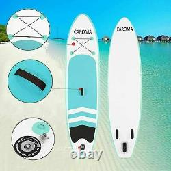 CAROMA Paddle Board SUP 10ft Inflatable Sports Surf Stand Up Racing Bag Pump Oar