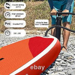 Extra Wide Paddle Board Inflatable Sports Surf Stand Up SUP Surfboard Kit Set UK