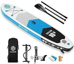 Goosehill Inflatable Stand Up Paddle Board, Premium SUP Package Blue