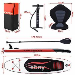 Inflatable Paddle Board SUP Stand Up Paddleboard & Accessories Aqua Spirit Set