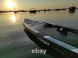 Inflatable Paddle Board Stand Up Paddleboard 106 FT Surfboard Non-Slip Black