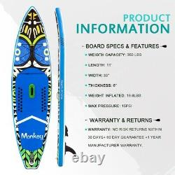 Inflatable Paddle Stand Up Board 11FT SUP with Full Package! UK STOCK