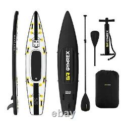 Inflatable SUP Board Stand Up Paddle Board + Paddle Seat 120kg Black/Yellow
