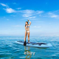 Inflatable SUP Stand Up PVC Paddle Board Sports Surf Water ISUP 297x76x15CM