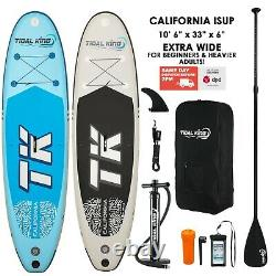 Inflatable Stand Up Paddle Board California 10' 6 x 33 Wide x 6 SUP or Kayak