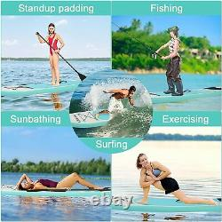 Inflatable Stand Up Paddle Board, SUP Adjustable Paddle, Non-Slip Full Accessories
