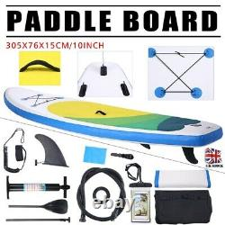 NEW 10ft Premium SUP Stand Up Paddleboard INFLATABLE PADDLE BOARD + ACCESSORIES