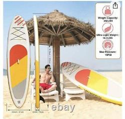 Stand up inflatable Paddle Board by WelandFun. 3M/3.2M Accessories Included