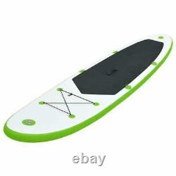 VidaXL Inflatable Stand Up Paddle Board Set Green and White SUP Board Set