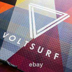 VoltSurf 11 Foot Rover Inflatable SUP Stand Up Paddle Board Kit with Pump, Yellow