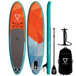 VoltSurf 11 Ft Rover Inflatable SUP Stand Up Paddle Board Kit with Pump, Turquoise