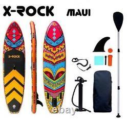 106 X-rock Maui Sup Gonflable Stand Up Paddle Board. Tout Nouveau Ensemble Complet