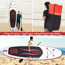 10.5' Gonflable Stand Up Paddle Board Sup Surfboard Avec Kit Complet 6'' Épaisseur