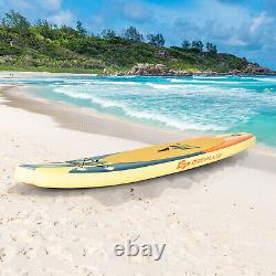 10.5ft Gonflable Stand Up Paddle Board Sup Surfboard Ajustable Non-slip Deck