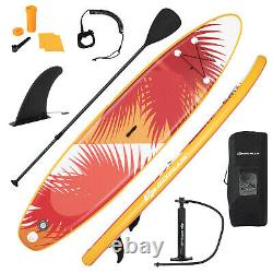10.5ft Gonflable Stand Up Paddle Board Sup Surfboard Ajustable Non-slip Isup