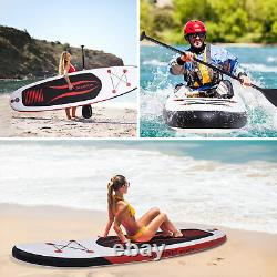 10.5ft Gonflable Stand Up Paddle Sup Board Surfing Surfboard Paddleboard Set
