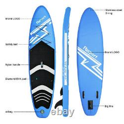 10.6' Gonflable Stand Up Paddle Board Surfing Surfboard Blue Sup Board