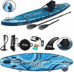 10'6 Isup Gonflable Stand Up Paddle Board Accessoires Barracuda Blue Kayak