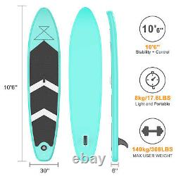 10'6 Paddle Board Stand Up Sup Gonflable Pump Paddleboard Kayak Adulte Débutant