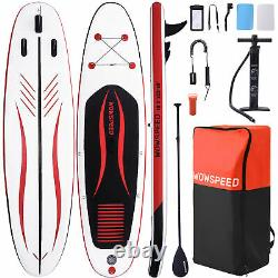 10'6' Stand Up Paddle Board Gonflable Sup Surfing Board Kayak Pack Complet