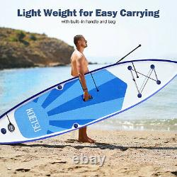 10ft 320cm Paddle Longboard Stand Up Sup Gonflable Surfboard Pump Kayak Adulte