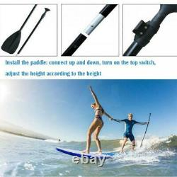 10ft 3.2m Paddle Longboard Stand Up Sup Gonflable Surfboard Pump Kayak Adulte Royaume-uni