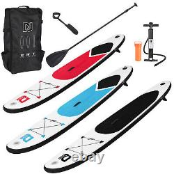 10ft Gonflable Paddle Board Sports Sup Surf Stand Up Bag Pump Oar Water Racing