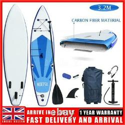 10ft Gonflable Paddle Board Stand Up Sup Surfboard Pump Kayak + Sup Accessoires
