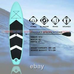 10ft Gonflable Rapide Stand Up Paddle Sup Board Surfing Surf Board Paddleboard