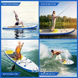 10ft Gonflable Stand Up Paddle Board Sup Surfboard Non-slip Deck Avec Sac De Pompe Uk