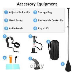 10ft Gonflable Stand Up Paddle Sup Board Surf Surf Board Paddleboard Pump Uk
