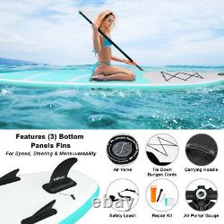 10ft Gonflable Sup Surfboard Paddle Stand Up Board 300x76x15cm Inc Garantie